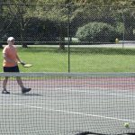 Tennis player on the courts