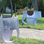 Edgewood park playground swings