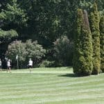 Golfers on the green