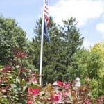 American flag in park