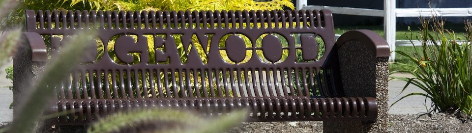 Edgewood park bench